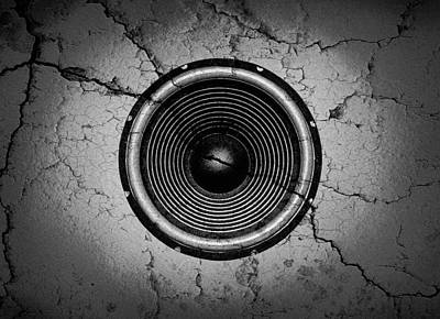Digital Art - Cracked Music Speaker by Steve Ball