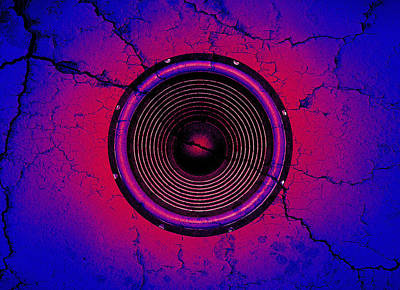 Digital Art - Cracked Music Speaker 2 by Steve Ball
