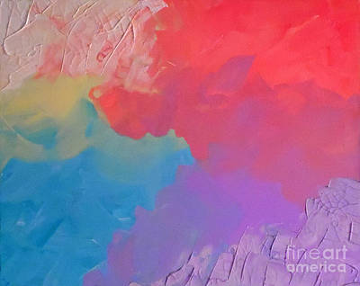Abstract Handbag Art Painting - Cracked Pastels by Jilian Cramb - AMothersFineArt