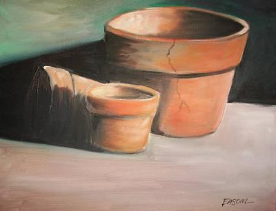 Cracked Pots Art Print by Scott Easom