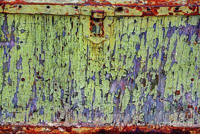 Photograph - Cracked Vintage Paint Abstract by Savannah Gibbs