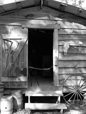 Cracker Barn Shadows Original by Warren Thompson