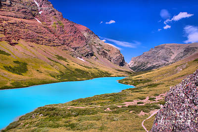 Photograph - Cracker Blue In A Sea Of Red Rocks by Adam Jewell