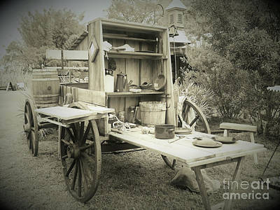 Photograph - Cracker Chuck Wagon Sepia by D Hackett