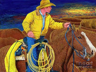 Painting - Cracker Cowboy Sunrise by David Joyner
