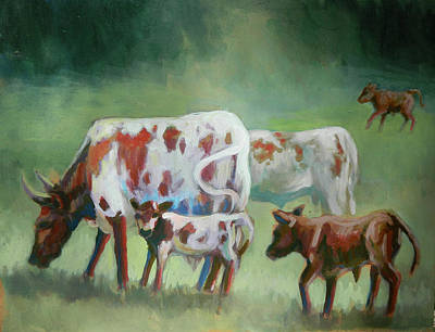 Painting - Cracker Cows by Elaine Hines