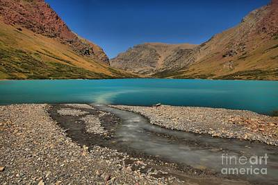 Cracker Lake Blue Waters Art Print by Adam Jewell