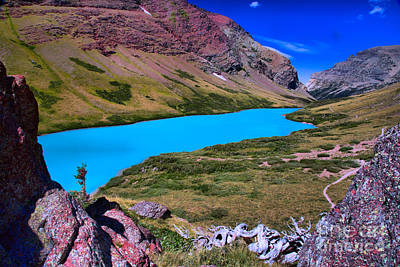 Photograph - Cracker Lake Dreamy Landscape by Adam Jewell