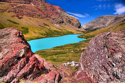 Photograph - Cracker Lake Red Rock Overlook by Adam Jewell