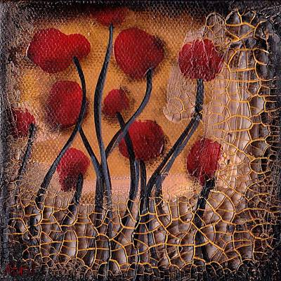 Painting - Cracking Poppies by  Abril Andrade Griffith