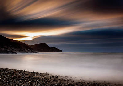 Water Filter Photograph - Crackington Haven Sunset by Maggie McCall
