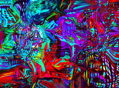 Digital Art - Crackle Line 3 by Phillip Mossbarger