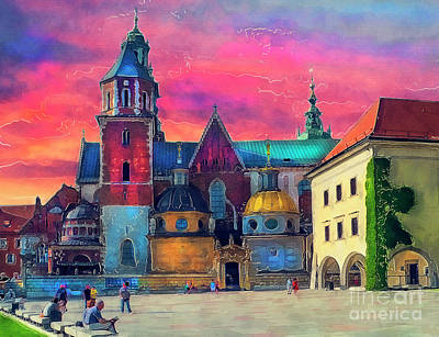Cracow Painting - Cracow - Wawel by Justyna JBJart
