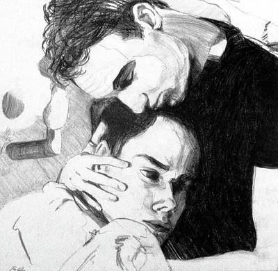 Drawing - Cradle My Heavy Heart by Rene Capone