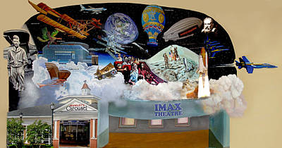 Cradle Of Aviation Museum Imax Theatre Art Print by Bonnie Siracusa