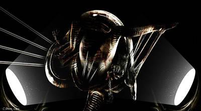 H.r. Giger Digital Art - Cradle by Pharaoh Laboa
