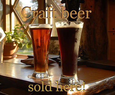 Photograph - Craft Beer Sold Here by David Lee Thompson
