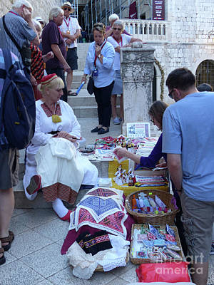 Photograph - Craft Seller - Dubrovnik by Phil Banks