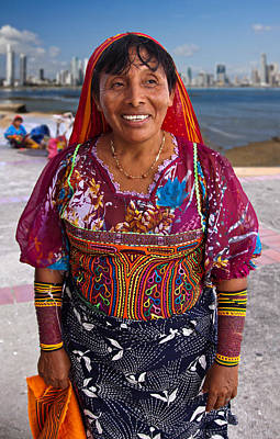 Photograph - Craft Vendor In Panama City, Panama by Tatiana Travelways