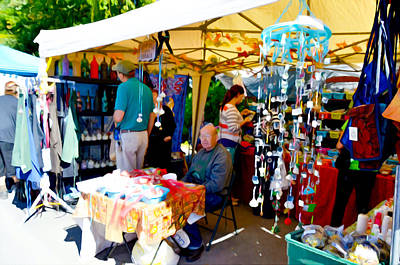 Saugerties Painting - Craft Vendors by Lanjee Chee