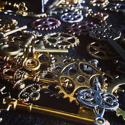 Steampunk Photograph - Crafting Steampunk Soon #steampunk by Landlubber ChubbyNinja