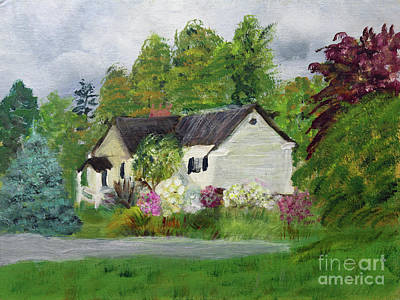 Painting - Craftsbury Historical Society by Donna Walsh