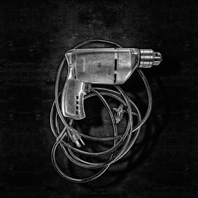 Photograph - Craftsman Drill Motor Bs Bw by YoPedro