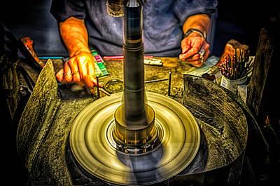 Photograph - Craftsman Jewelry Maker by Joseph Hollingsworth