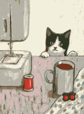Crafty Cat #2 Art Print