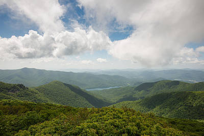 Photograph - Craggy Pinnacle Blue Ridge Parkway Mountain View by Rick Dunnuck
