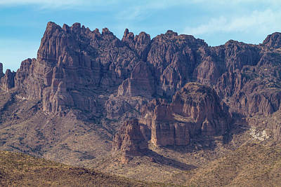 Go For Gold - Crags in Cerbat Mountains by Bonnie Follett