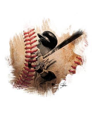 Astros Drawing - Craig Biggio by Ryan Anderson