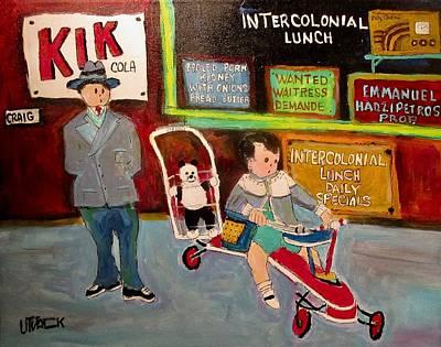 Litvack Painting - Vintage Craig Street Generations Montreal Memories by Michael Litvack
