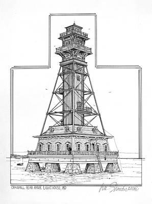 Craighill Rear Range Lighthouse Original