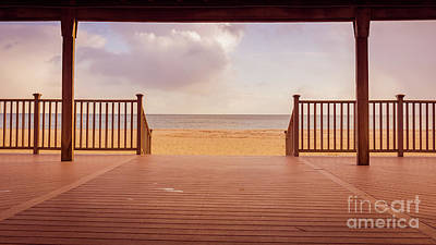 Photograph - Craigville Beach Centerville Cape Cod Deck Wide  by Edward Fielding