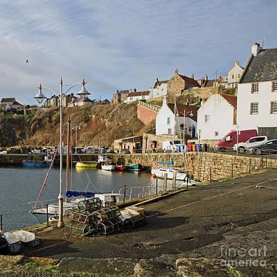 Photograph - Crail Harbour, Scotland by Liz Alderdice