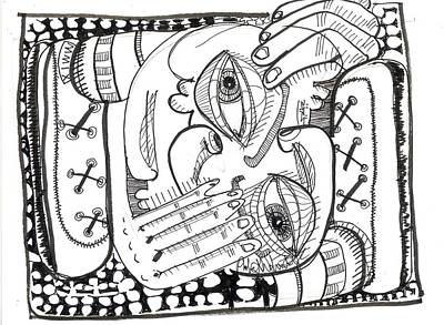 Contemporary Abstract Drawing - Cramped by Robert Wolverton Jr