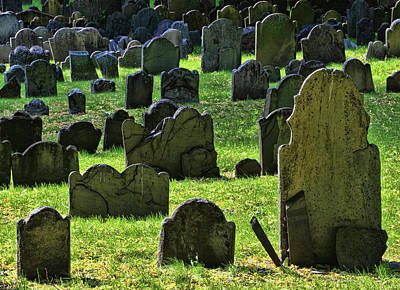 Photograph - Cranary Burial Ground - Boston by Allen Beatty