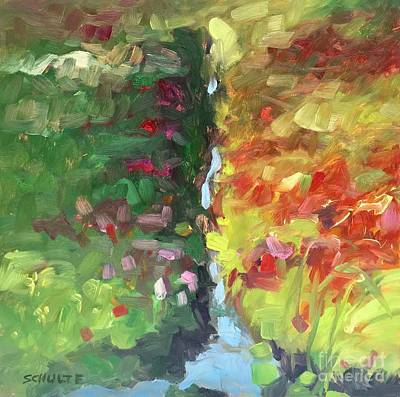Painting - Cranberry Bog Irrigation Ditch by Lynne Schulte