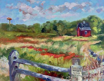 Painting - Cranberry Bog Sign by Lynne Schulte