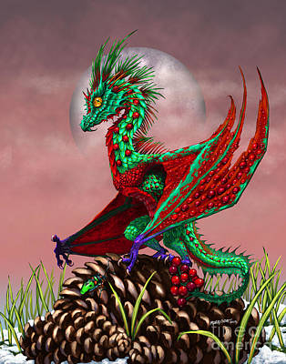 Cranberry Dragon Art Print