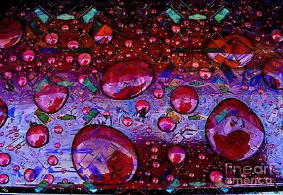 Cranberry Glisten Art Print by Ron Bissett