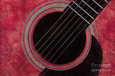 Andee Fine Art And Digital Design Photograph - Cranberry Guitar by Andee Design
