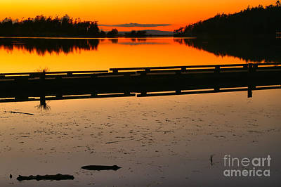 Photograph - Cranberry Lake Sunset by Adam Jewell