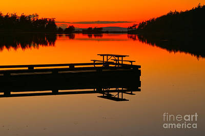 Photograph - Cranberry Lake Sunset Picnic by Adam Jewell