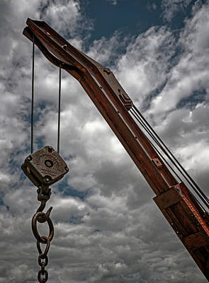 Crane And Chain Art Print by Murray Bloom