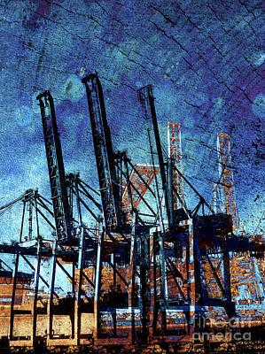 Shipping Mixed Media - Crane Collective by Callan Percy