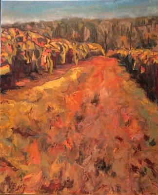 Painting - Crane Creek Vineyard by Nita Burge