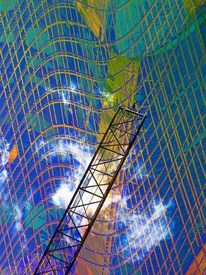 Photograph - Crane Grid by David Pantuso