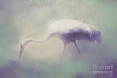 Crane Mixed Media - Crane by KaFra Art